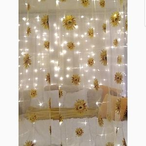 None Accents - Sunflower Yellow Curtain Panels 36x84 Metal Gromme